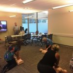 Group practicing CPR