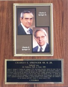 CHARLES E. SPRINGER SR. and CHARLES E. SPRINGER JR.