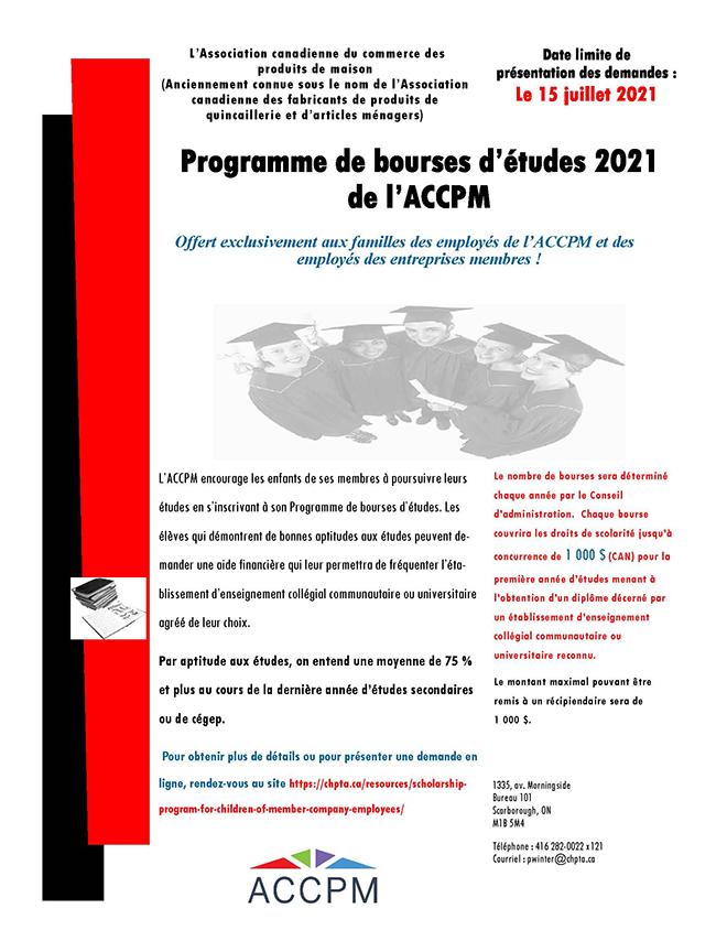 CHPTA French scholarship poster
